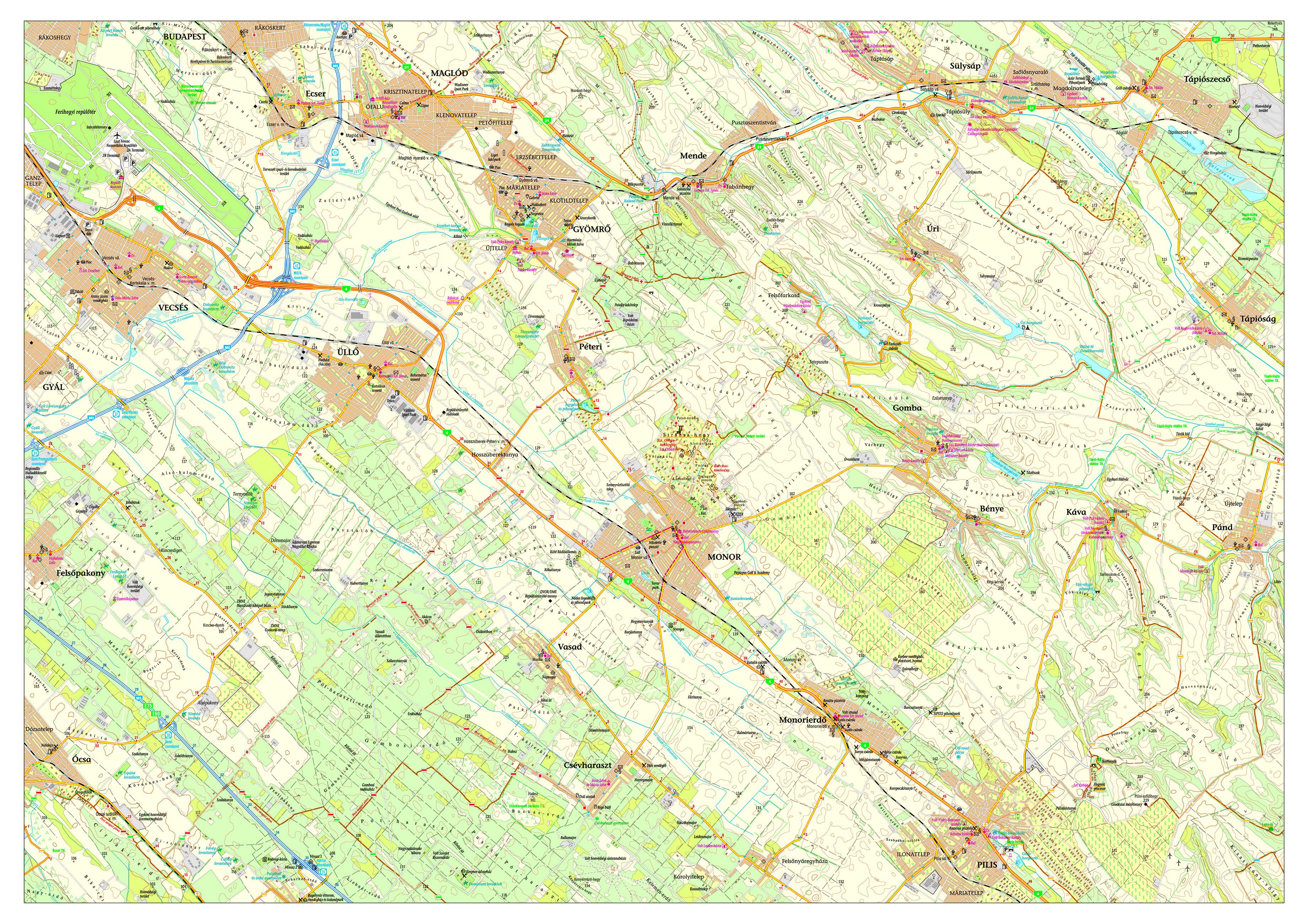 monor térkép Monor Környéki Strázsa Borrend » Monor és környéke látnivalói monor térkép