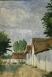 Téglagyári dűlő első sora régen, ma Kármentő sorról készült festmény